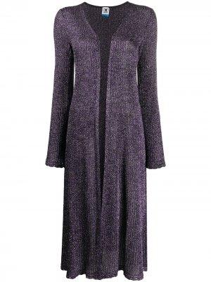Пальто-кардиган с блестками M Missoni. Цвет: фиолетовый