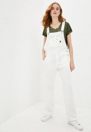 Комбинезон джинсовый Carhartt. Цвет: белый
