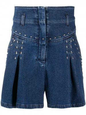 Джинсовые шорты с завышенной талией Alberta Ferretti. Цвет: синий