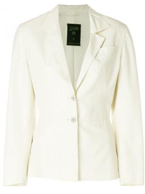 Облегающий пиджак с укороченными рукавами Jean Paul Gaultier Pre-Owned. Цвет: нейтральные цвета