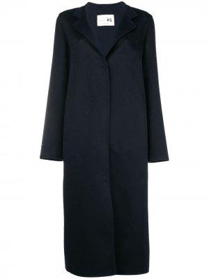 Single breasted coat Manzoni 24. Цвет: синий