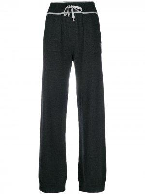 Трикотажные брюки прямого кроя Lorena Antoniazzi. Цвет: серый