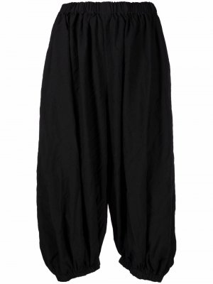 Укороченные брюки с низким шаговым швом Comme Des Garçons. Цвет: черный