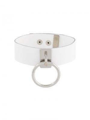 Чокер с кольцом Manokhi. Цвет: белый