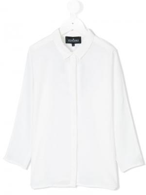 Рубашка с планкой Little Remix. Цвет: белый