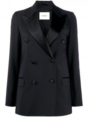 Двубортный пиджак-смокинг Dondup. Цвет: черный
