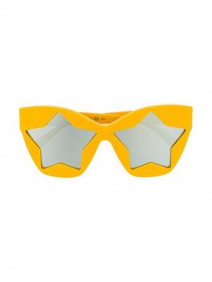 Солнцезащитные очки в оправе кошачий глаз Stella McCartney Eyewear. Цвет: желтый