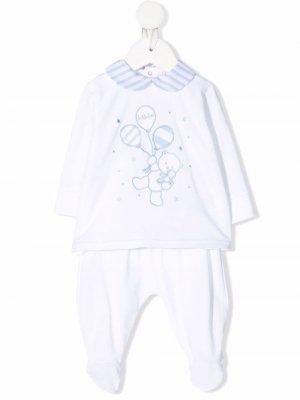 Пижама с графичным принтом Le Bebé Enfant. Цвет: белый