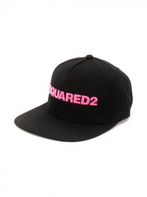 Бейсболка с вышитым логотипом Dsquared2 Kids. Цвет: черный