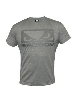 Футболка Bad Boy Eyes Tee Shirt - Grey Marl. Цвет: серый