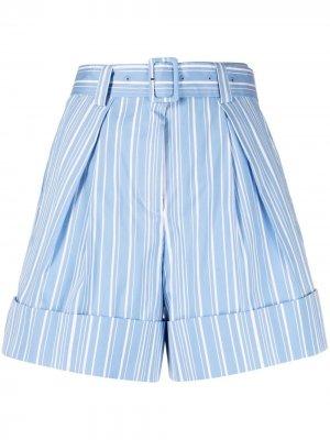 Полосатые шорты с поясом Krizia. Цвет: синий