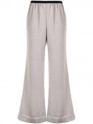 Укороченные брюки широкого кроя GOODIOUS. Цвет: серый