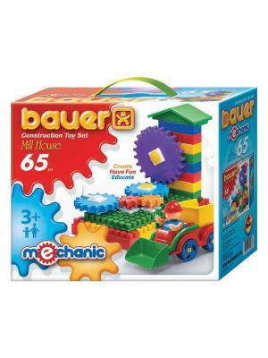 Конструктор Bauer серии Mechanic 65parts Mill house (Мельница малая) 24/24. Цвет: голубой