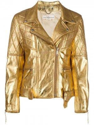 Куртка с эффектом металлик Golden Goose. Цвет: золотистый