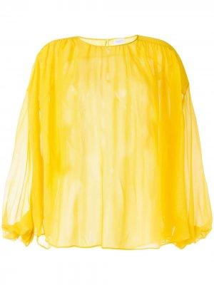 Блузка с рукавами бишоп Giambattista Valli. Цвет: желтый