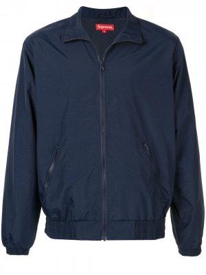 Спортивная куртка с логотипом Supreme. Цвет: синий