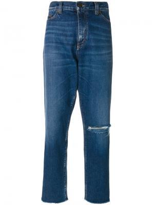 Классические джинсы-бойфренды Saint Laurent. Цвет: 4963 denim