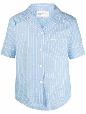Пижамная рубашка в полоску Youths In Balaclava. Цвет: синий