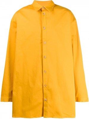 Рубашка на пуговицах Qasimi. Цвет: желтый