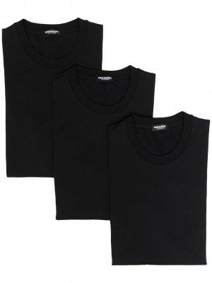 Комплект из трех футболок Dsquared2. Цвет: белый