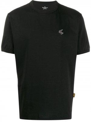 Футболка с логотипом Vivienne Westwood Anglomania. Цвет: черный