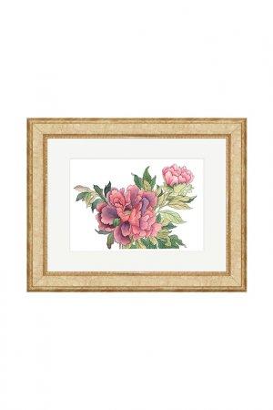 Картина Пионы Осень OLGA GLAZUNOVA. Цвет: розовый