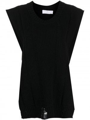 Трикотажный кейп AMI AMALIA. Цвет: черный