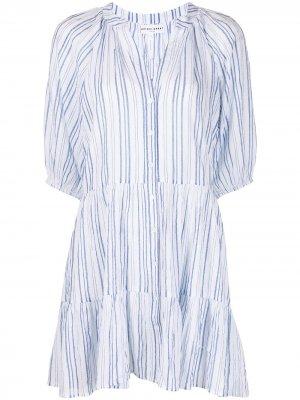 Платье мини Mitte в полоску Apiece Apart. Цвет: синий