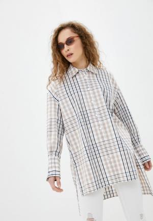 Рубашка SH. Цвет: бежевый