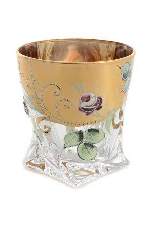 Набор стаканов, 6 шт Bohemia. Цвет: золотой