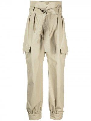 Зауженные брюки Penelope со складками Skiim. Цвет: зеленый