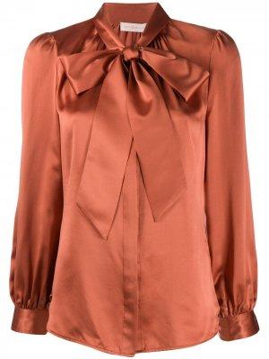Блузка с бантом Tory Burch. Цвет: розовый