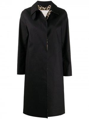 Однобортное пальто средней длины Mackintosh. Цвет: черный