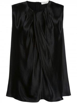 Расклешенная блузка без рукавов The Row. Цвет: черный
