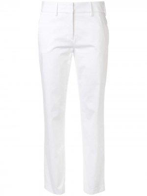 Укороченные брюки прямого кроя Eleventy. Цвет: белый