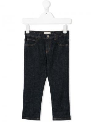 Straight jeans Gucci Kids. Цвет: синий