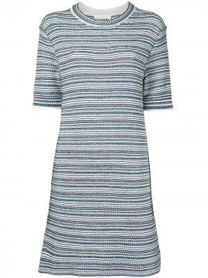 Платье в полоску с короткими рукавами Chloé. Цвет: разноцветный