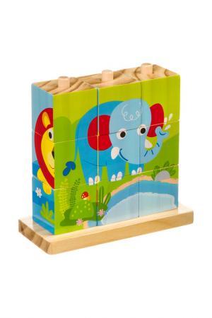 Кубики-пазлы BONDIBON. Цвет: дерево