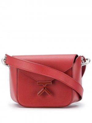 Маленькая сумка через плечо с логотипом Kenzo. Цвет: красный