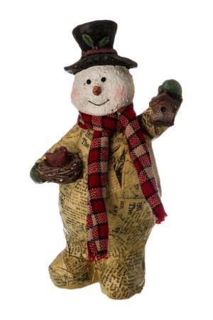 Статуэтка Снеговик MELROS. Цвет: желтый