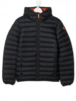 Padded zip coat Save The Duck Kids. Цвет: черный