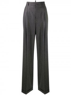 Строгие брюки широкого кроя Dsquared2. Цвет: серый