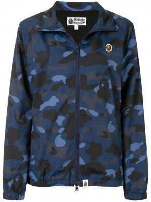 Куртка Camo Track A BATHING APE®. Цвет: синий
