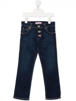 Прямые джинсы Miss Blumarine. Цвет: синий