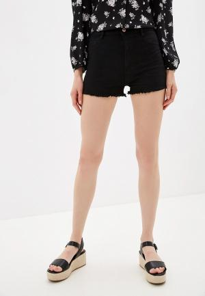 Шорты джинсовые Alcott. Цвет: черный