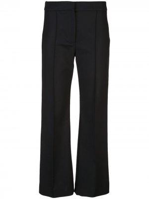 Укороченные расклешенные брюки со складками Derek Lam. Цвет: черный