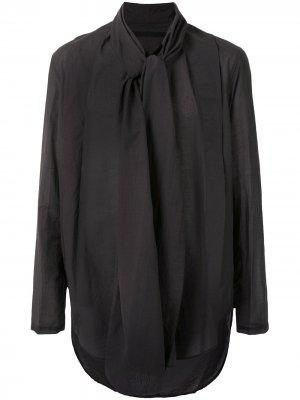 Рубашка с длинными рукавами и шарфом Julius. Цвет: серый