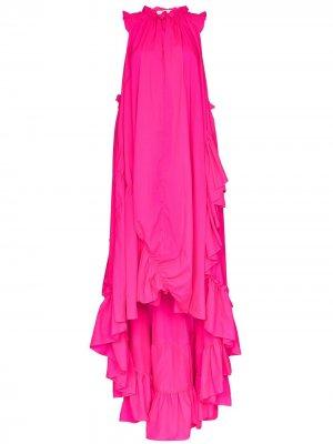 Вечернее платье Lizzie асимметричного кроя Brøgger. Цвет: розовый