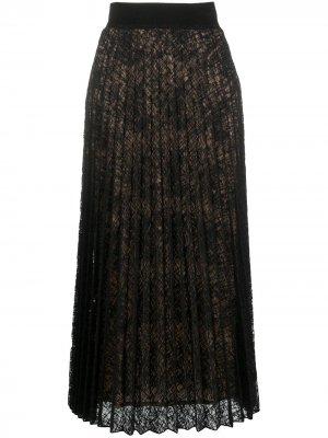 Плиссированная юбка D.Exterior. Цвет: черный