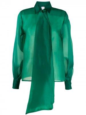 Блузка свободного кроя с бантом Ultràchic. Цвет: зеленый